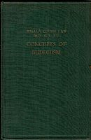 Concepts of Buddhism. Bimala Churn Law. Amsterdam 1937. 104 pp. Lingua inglese. Copertina rigida.