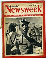 Continental Newsweek. 20 august 1945. The magazine of news significance. 36 pp ill. in nero. Parte